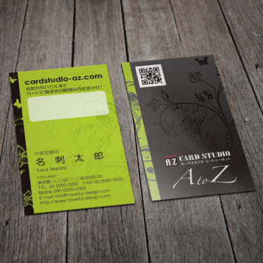T00001☆セミオーダー!プロのデザイナーが作るマットラミネートPP高級名刺