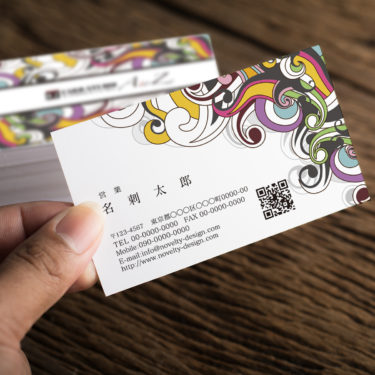 Y00005☆セミオーダー!プロのデザイナーが作るマットラミネートPP高級名刺