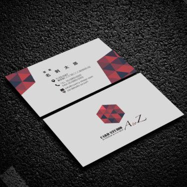 Y00029☆セミオーダー!プロのデザイナーが作るマットラミネートPP高級名刺