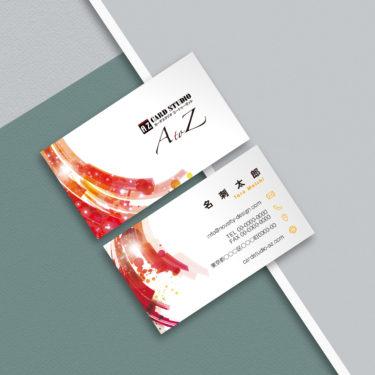 Y00040☆セミオーダー!プロのデザイナーが作るマットラミネートPP高級名刺